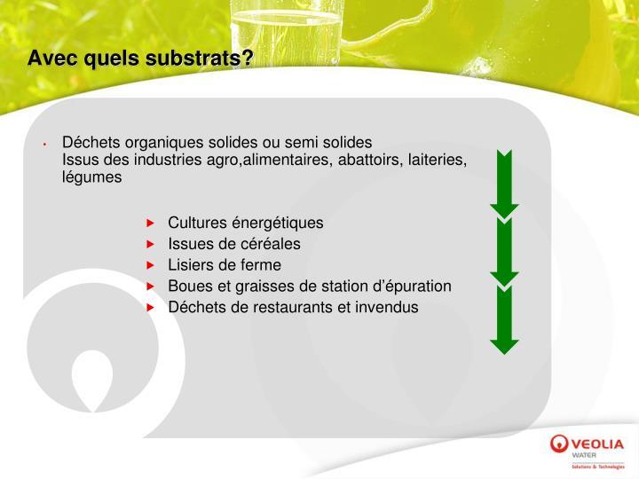 Avec quels substrats?