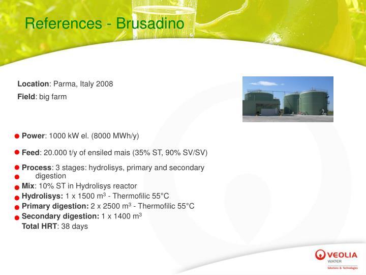 References - Brusadino