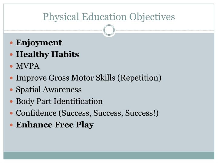 Physical Education Objectives