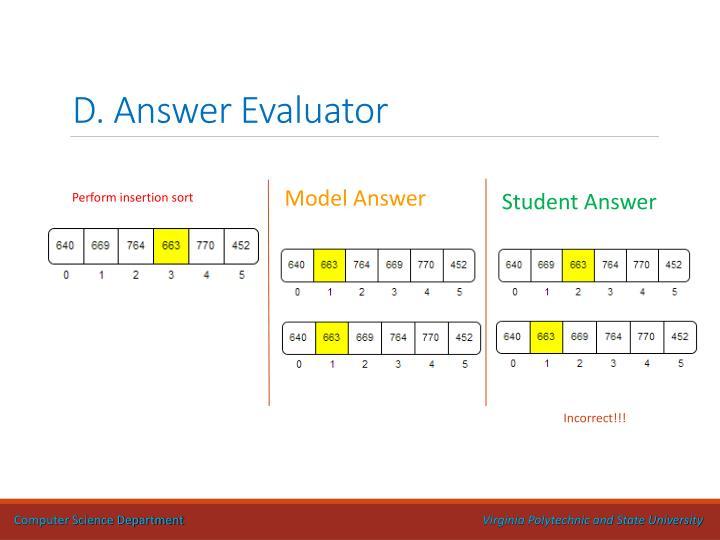 D. Answer Evaluator
