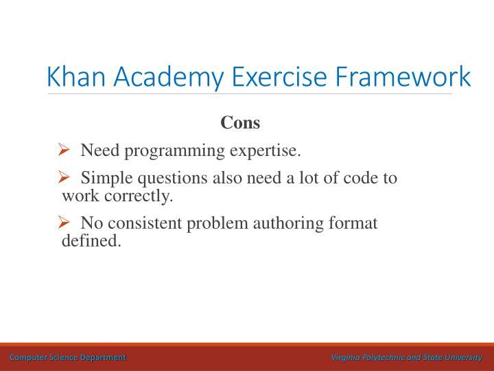 Khan Academy Exercise Framework