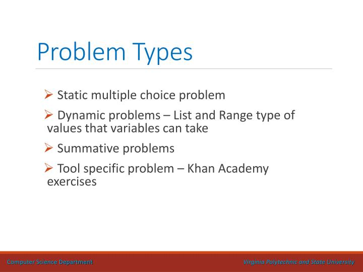Problem Types