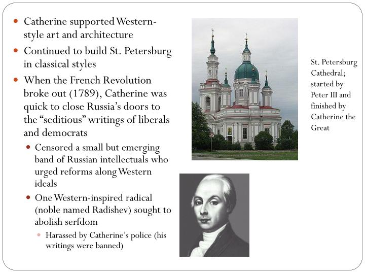 St. Petersburg Cathedral; started by Peter III and finished by Catherine the Great