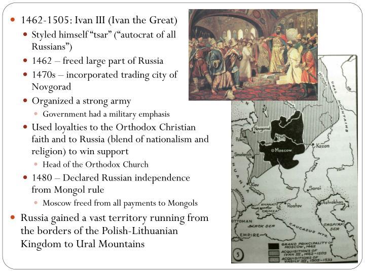 1462-1505: Ivan III (Ivan the Great)