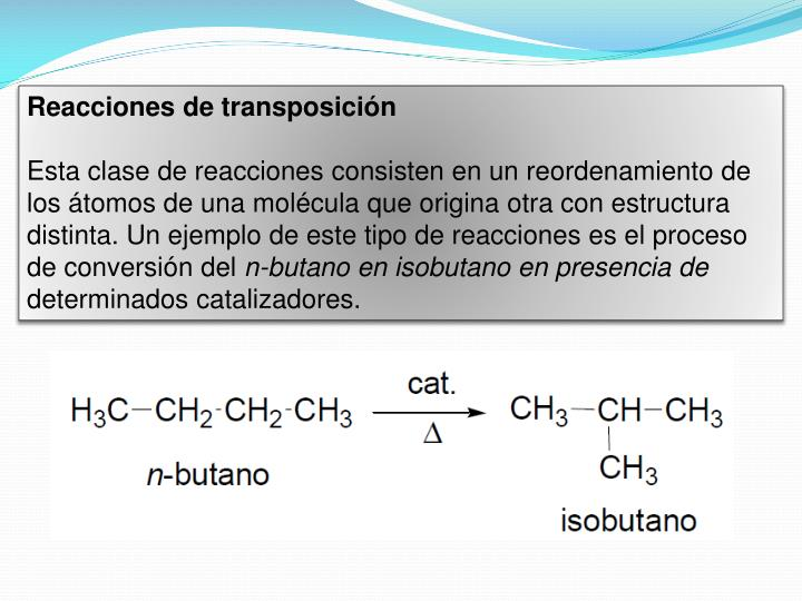 Reacciones de transposición
