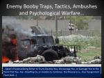 enemy booby traps tactics ambushes and psychological warfare14