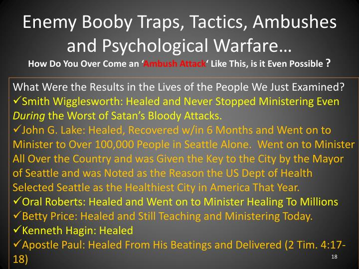 Enemy Booby Traps,