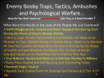 enemy booby traps tactics ambushes and psychological warfare16