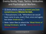 enemy booby traps tactics ambushes and psychological warfare3