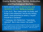 enemy booby traps tactics ambushes and psychological warfare5