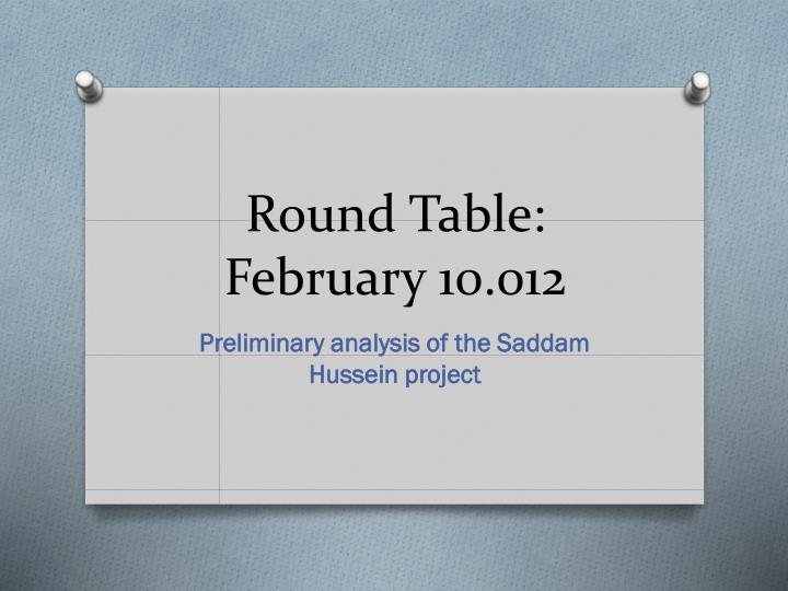 Round table february 10 012