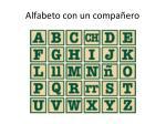 alfabeto con un compa ero