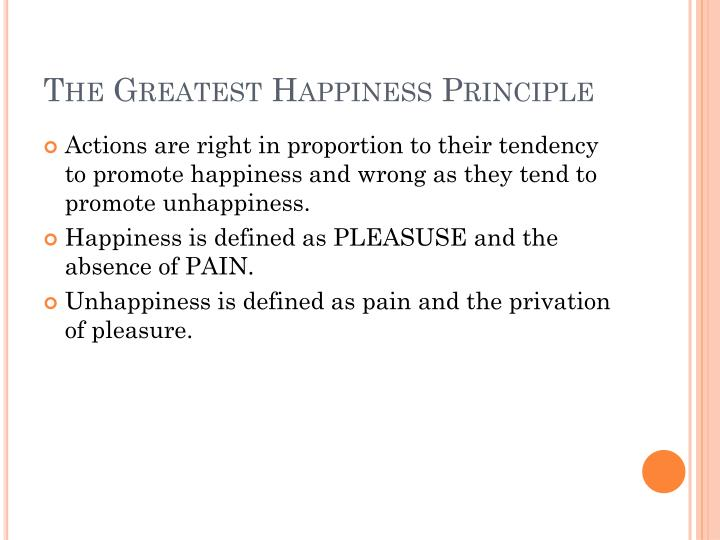 utilitarianism and greatest happiness principle
