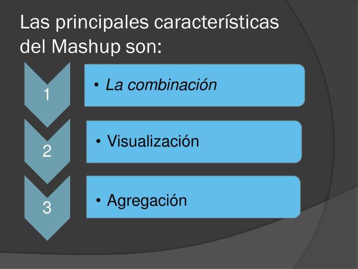 Las principales características del Mashup son: