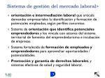 sistema de gesti n del mercado laboral