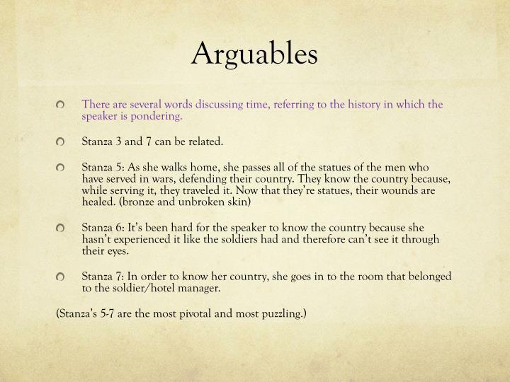 Arguables
