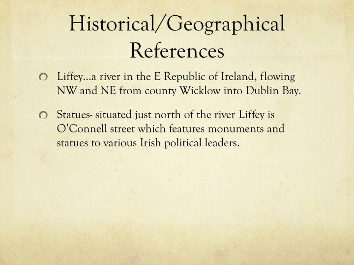 Historical/Geographical References