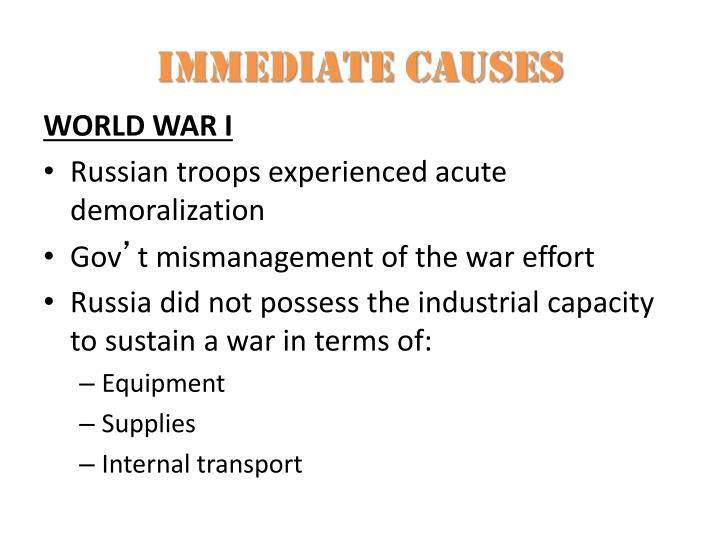 Immediate causes