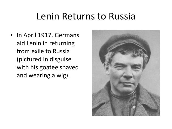 Lenin Returns to Russia
