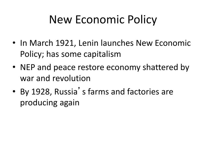 New Economic Policy