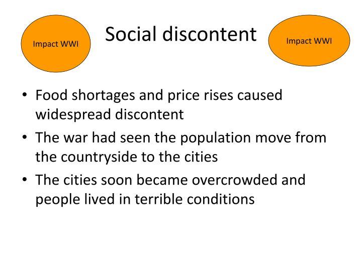 Social discontent