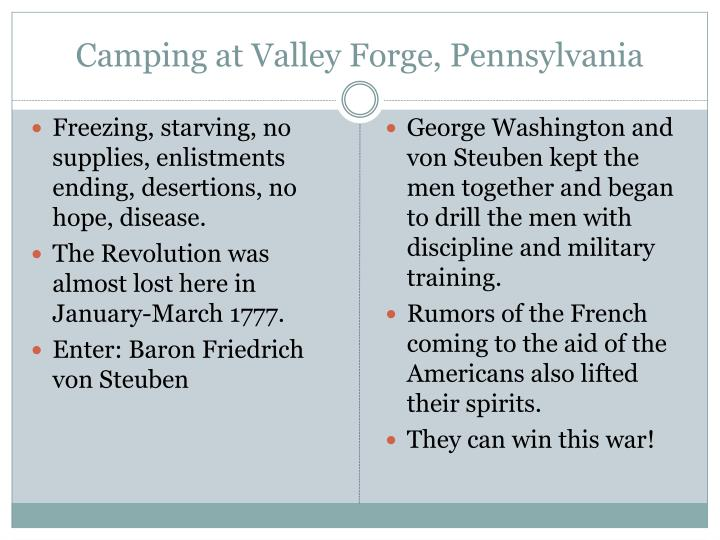 Camping at Valley Forge, Pennsylvania