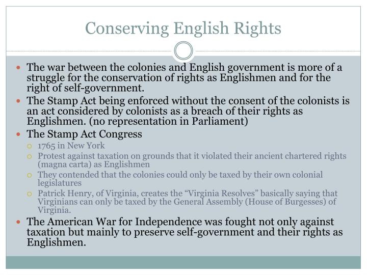 Conserving english rights