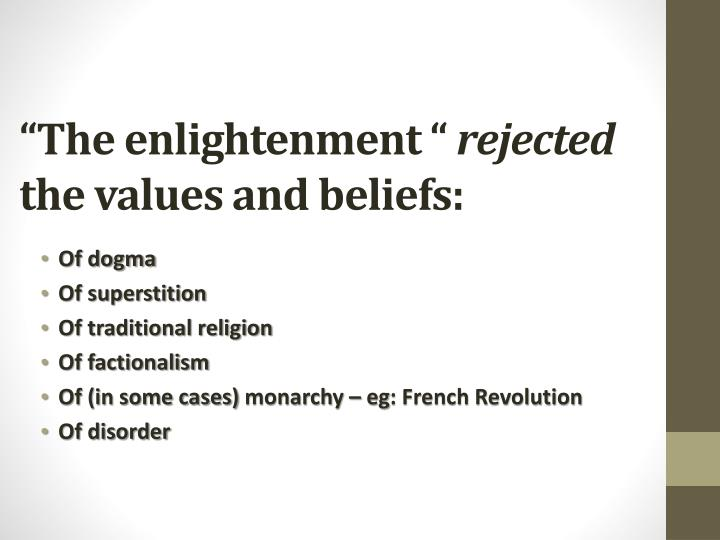 """The enlightenment """