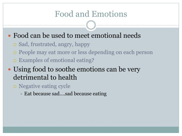 Food and Emotions