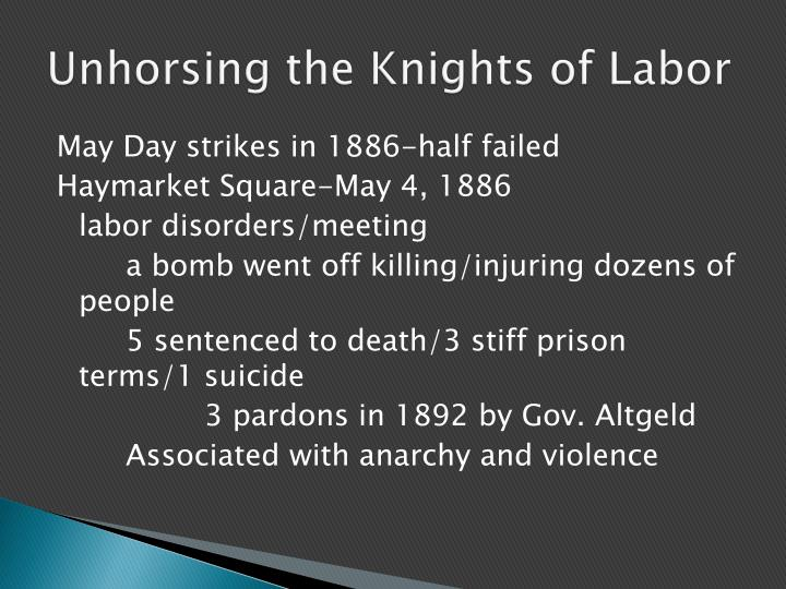 Unhorsing the Knights of Labor