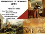 exploitation of the lower class revolutions