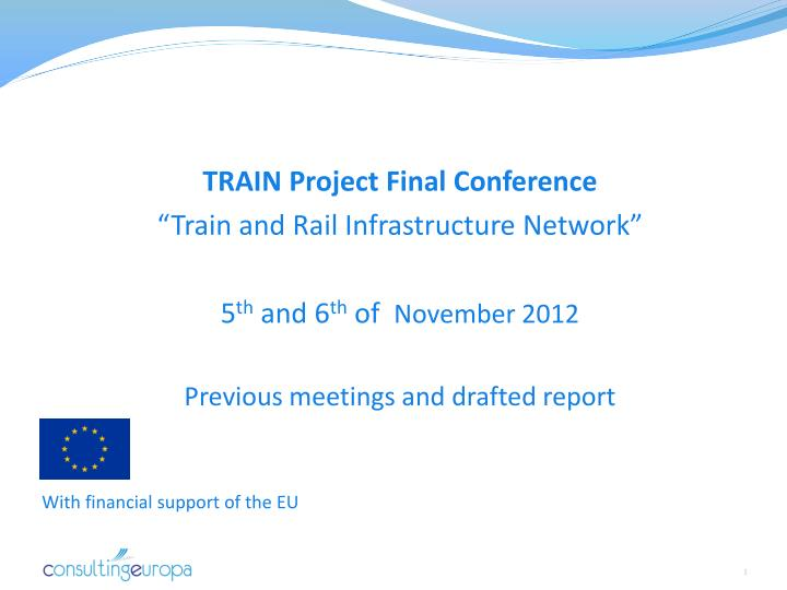 TRAIN Project Final Conference