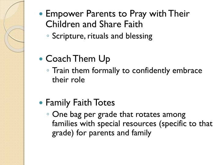 Empower Parents to Pray with Their Children and Share Faith