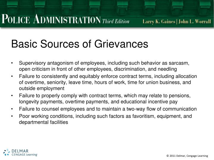 Basic Sources of Grievances