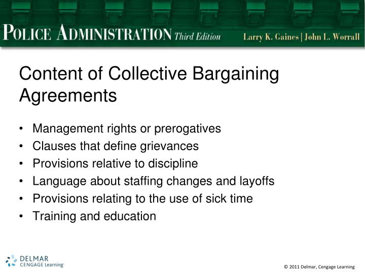Content of Collective Bargaining Agreements