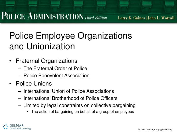 Police Employee Organizations