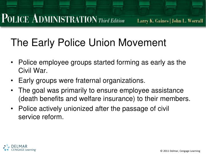 The Early Police Union Movement