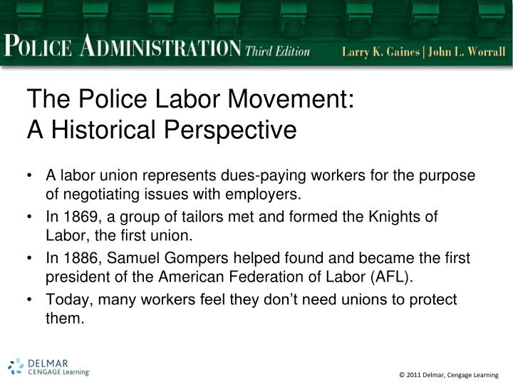 The Police Labor Movement: