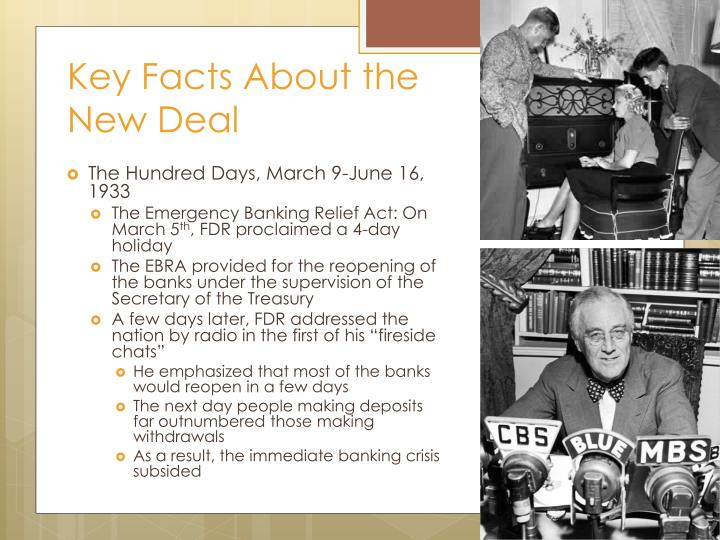 Key facts about the new deal1