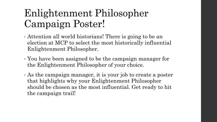Enlightenment Philosopher Campaign Poster!