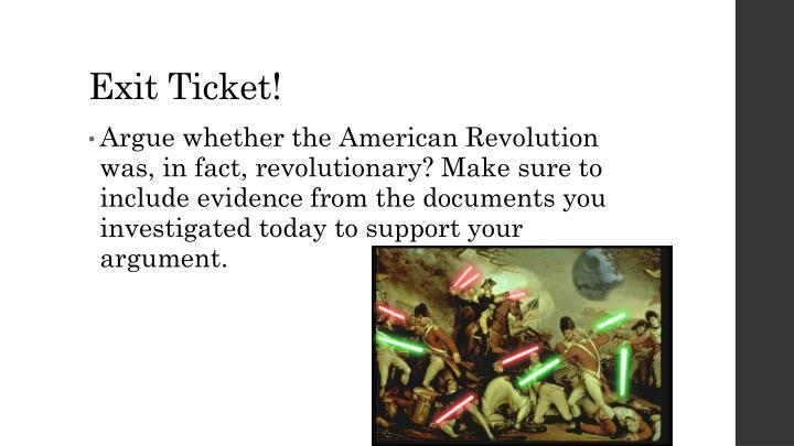 Exit Ticket!