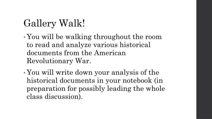 Gallery Walk!
