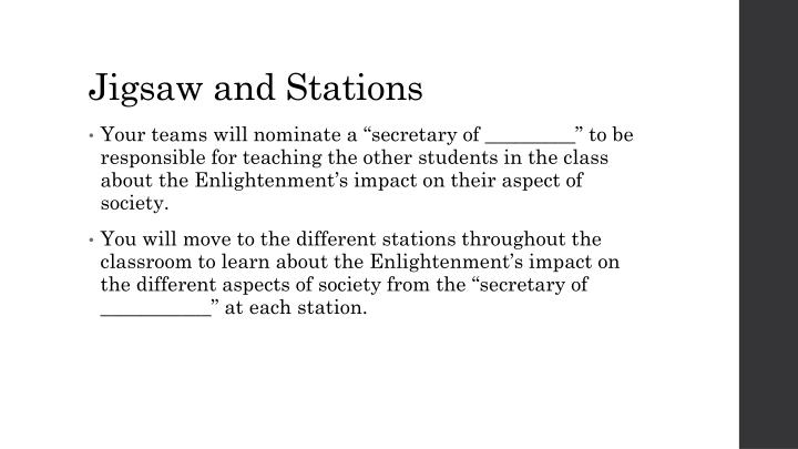 Jigsaw and Stations