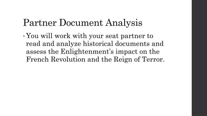 Partner Document Analysis