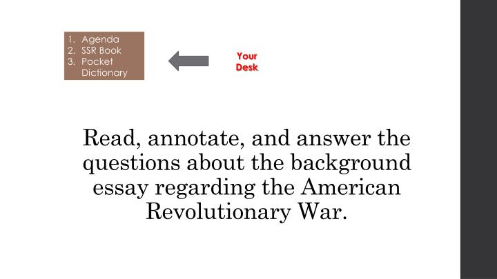 Read, annotate, and answer the questions about
