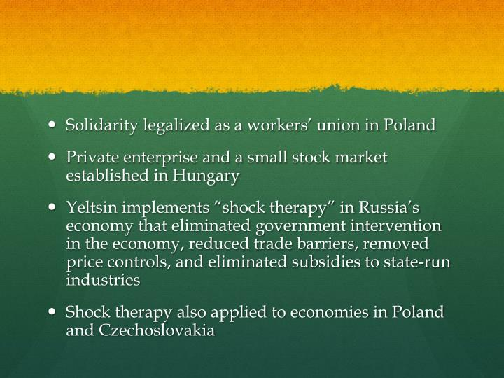 Solidarity legalized as a workers' union in Poland