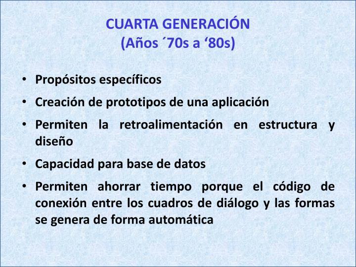 CUARTA GENERACIÓN