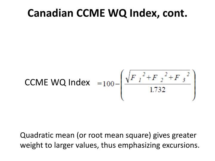 Canadian CCME WQ