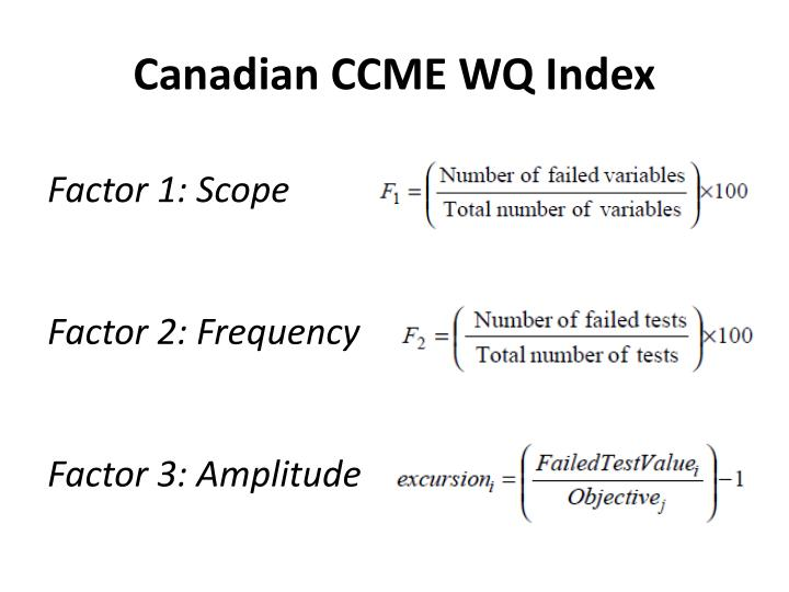 Canadian CCME WQ Index