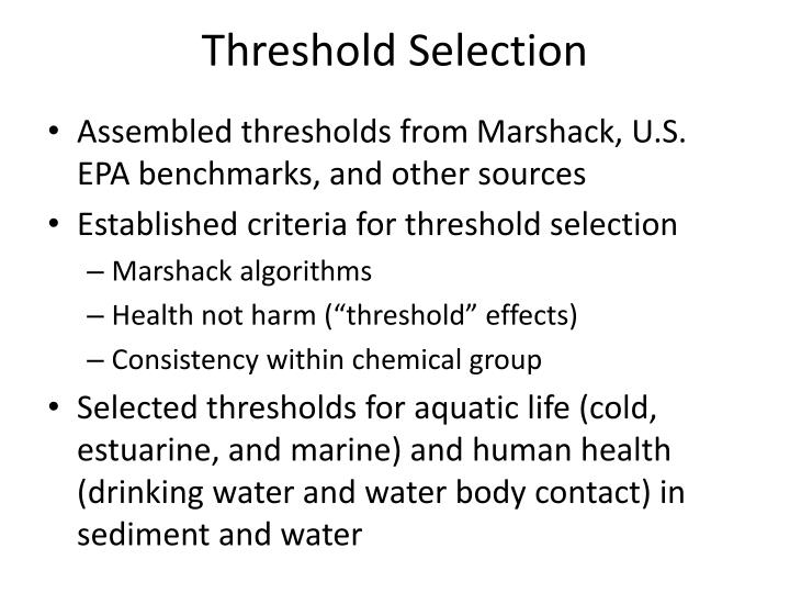 Threshold Selection